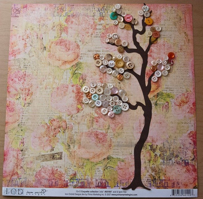 Button Tree Wall Art Craft Projects For Every Fan