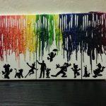 DIY Melted Crayon Wall Art