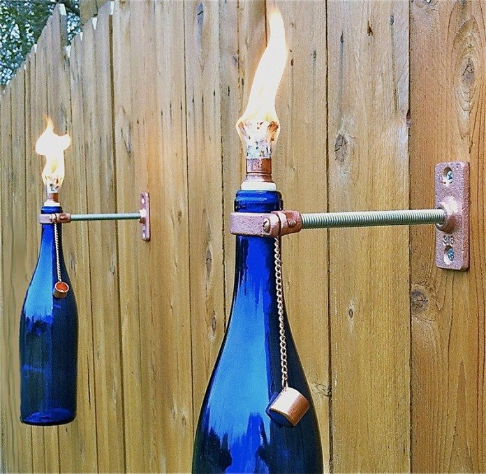 Glass bottle torch 1