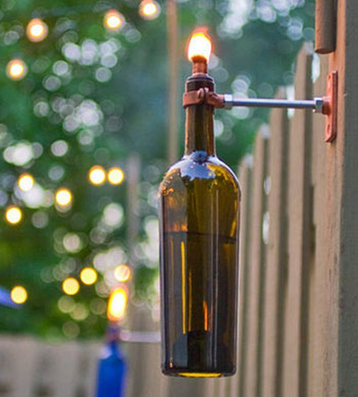 Glass Bottle Torch Craft Projects For Every Fan