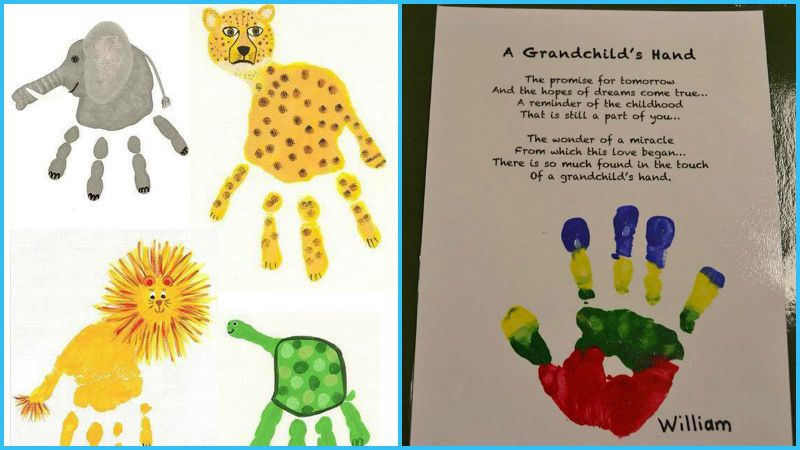 Hand and footprint art craft projects for every fan for Hand and feet painting ideas