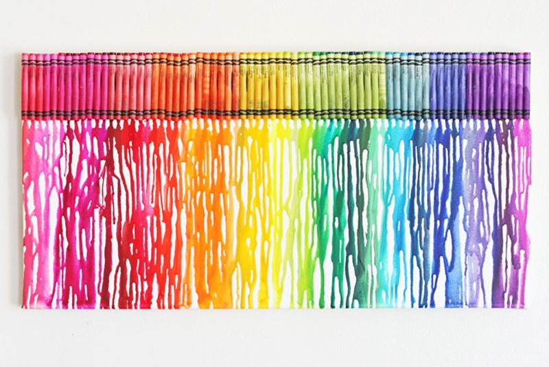 Different Designs For Melted Crayon Art
