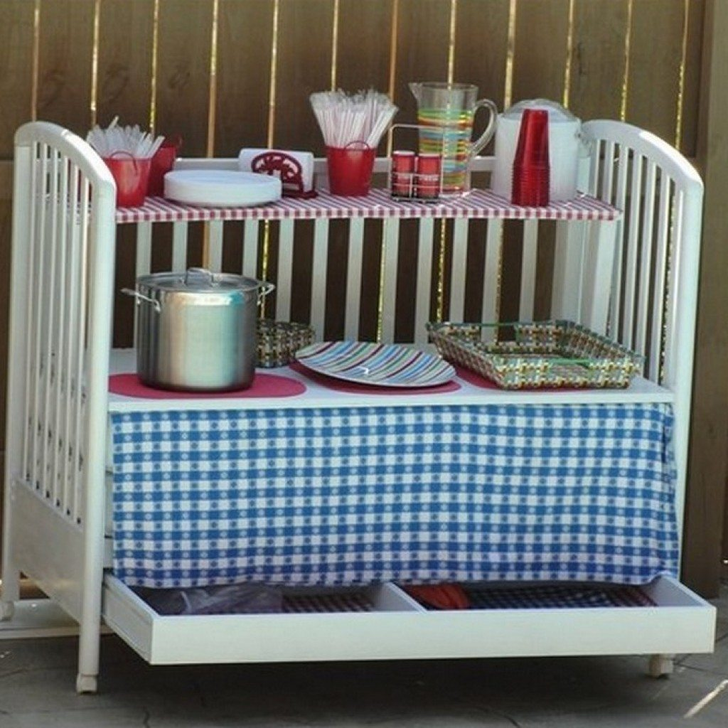 An outdoor kitchen caddy