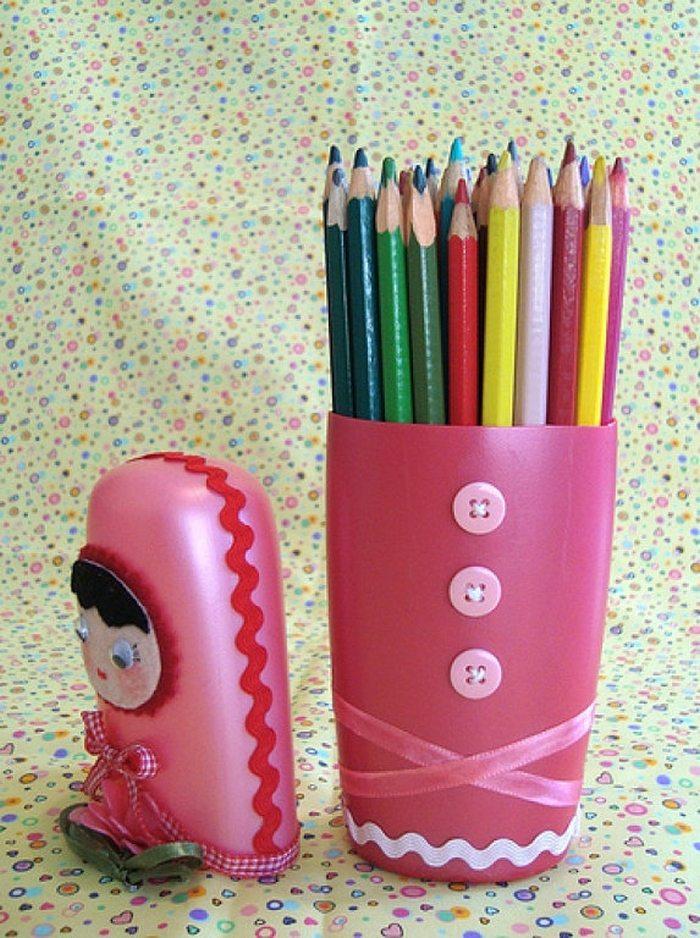 Shampoo Bottle Pencil Holder