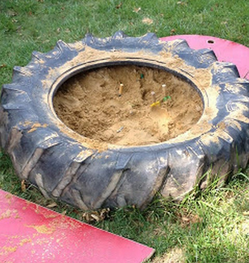 DIY Tire Sandbox
