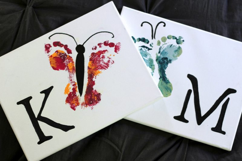 Paintings Using Hands And Feet Child