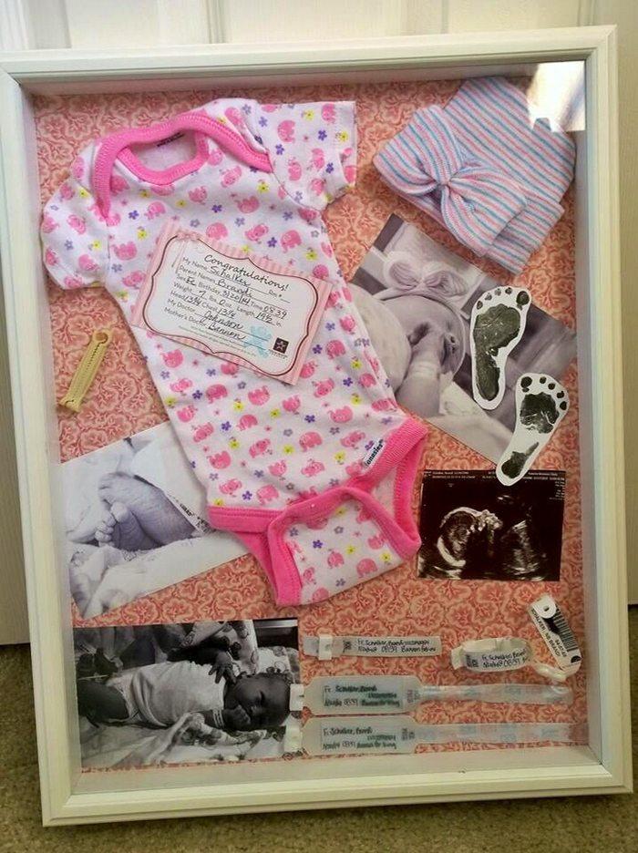 Baby Memories Shadow Box