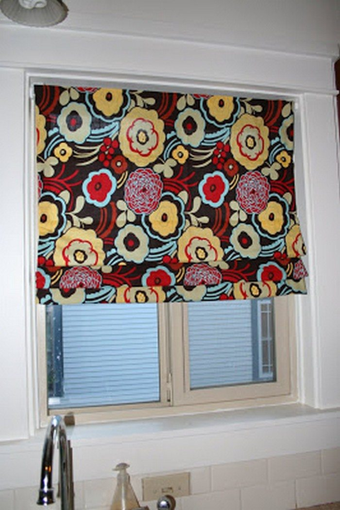 How to turn old window blinds into roman shades - Craft ...