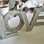 Decorative Concrete Letters