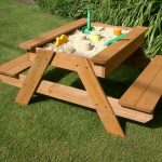 Sandpit Ideas - Kids Picnic Table with Sandbox