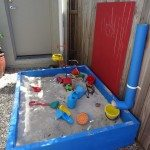 Sandpit Idea with PVC
