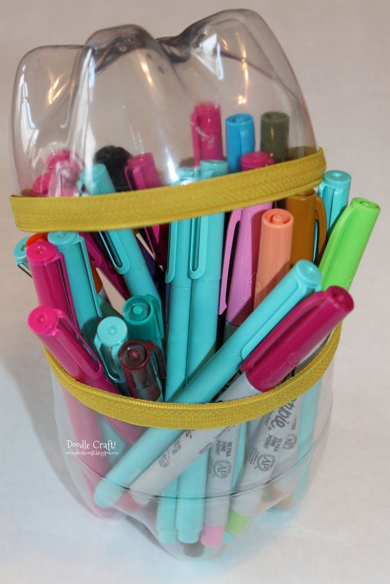 Soda Bottle Zippered Pencil Case Craft Projects For