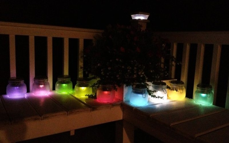 DIY Solar Lights Jar