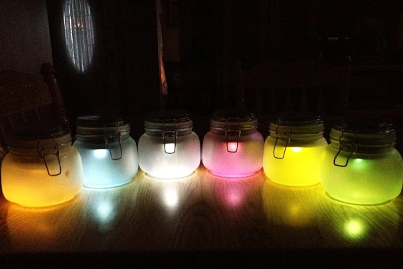 DIY Mason Jar Solar Lighting