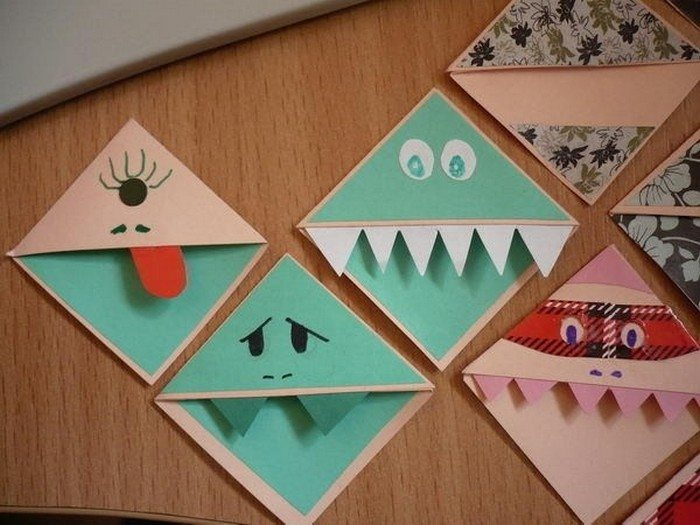 Cute Customized Corner Bookmarks Craft Projects For
