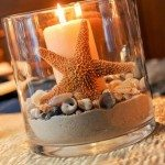 Beach Themed Candle Centerpiece