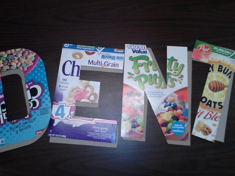 Cereal Box Letters