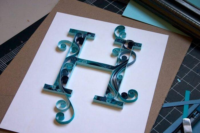 Как оформить букву с своими руками