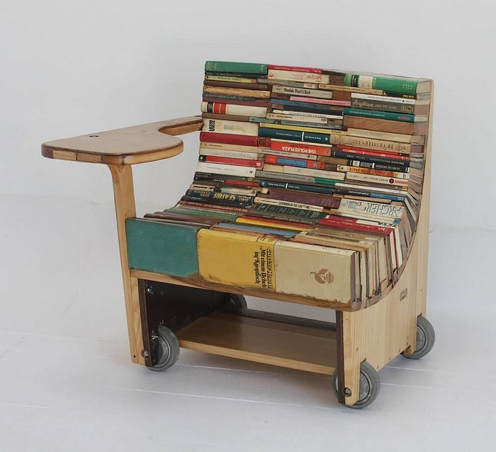 Seating made out of books