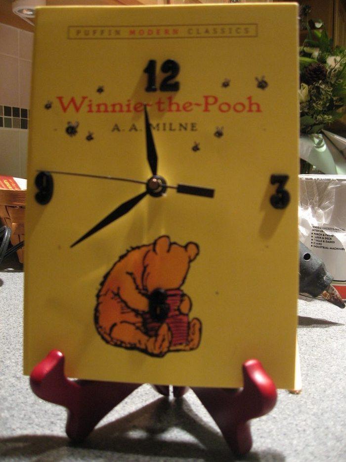 Vintage Book Clock
