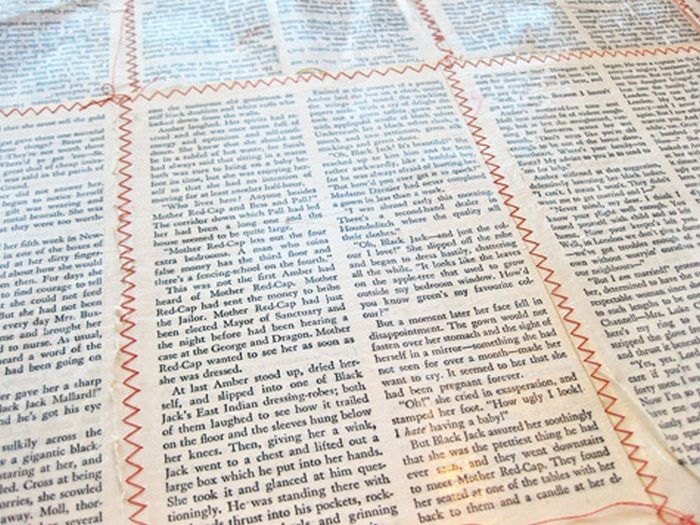 Book Page Fabric