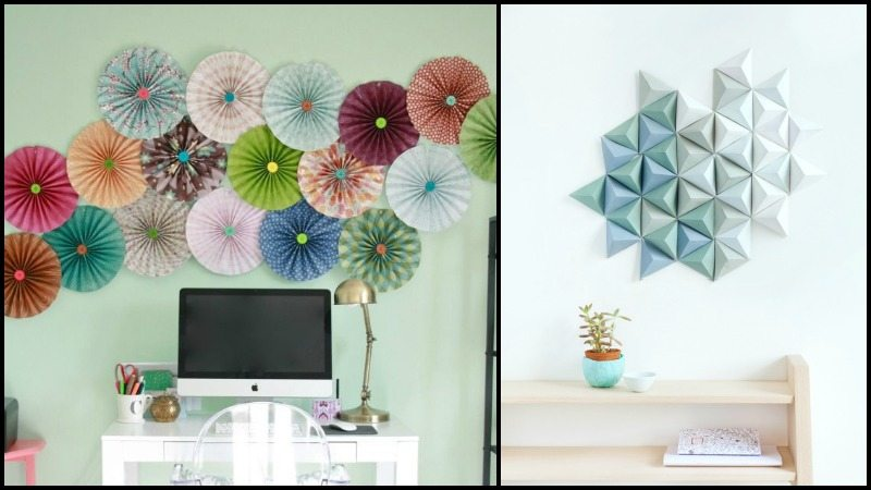 Wall Decoration Ideas With Ribbons : Easy paper decor ideas to spruce up plain and boring walls
