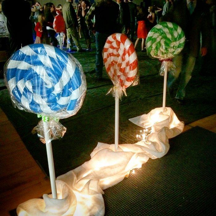 Pool Noodle Lollipop Decor