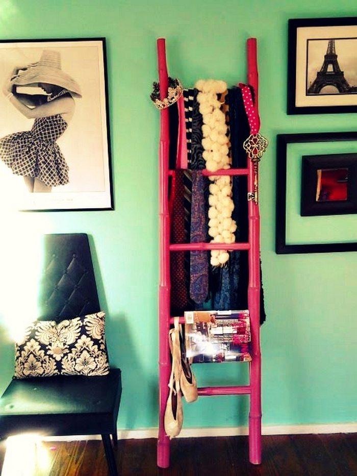 Bamboo Ladder Storage