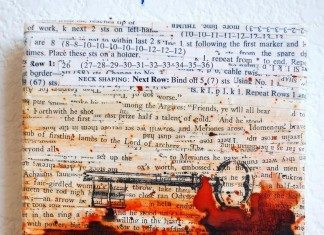 Upcycled Old Book Art