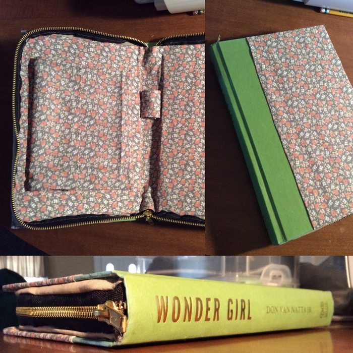 How To Make A Book Clutch With Zipper : Turn hardbound books into clutches with zipper craft