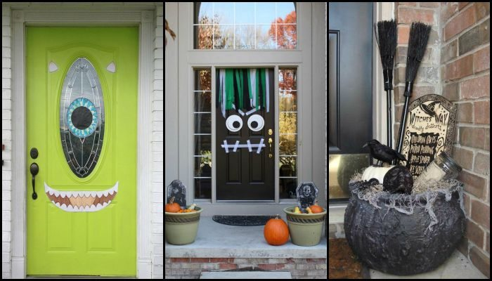 front door halloween decor main image - Front Door Halloween Decorations