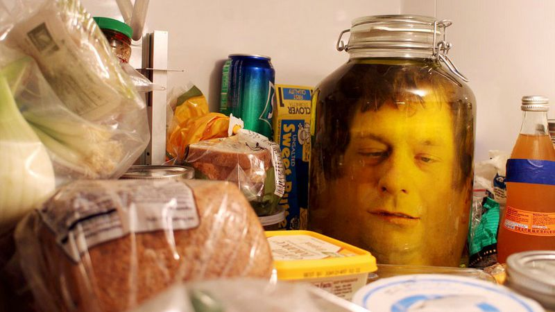Head in a jar!