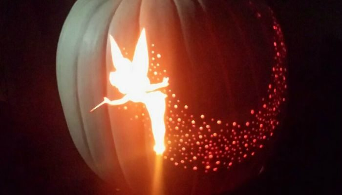 Tinkerbell Pixie Dust Pumpkin Carving