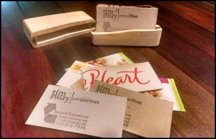 Upcycled: Business cards from cereal boxes
