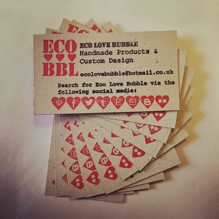 Upcycled: Business cards from cereal boxes | Craft projects for ...