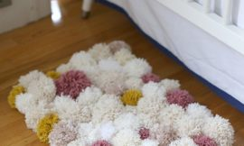 Make your own pompom rug!