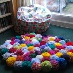 DIY Pompom Rug Samples