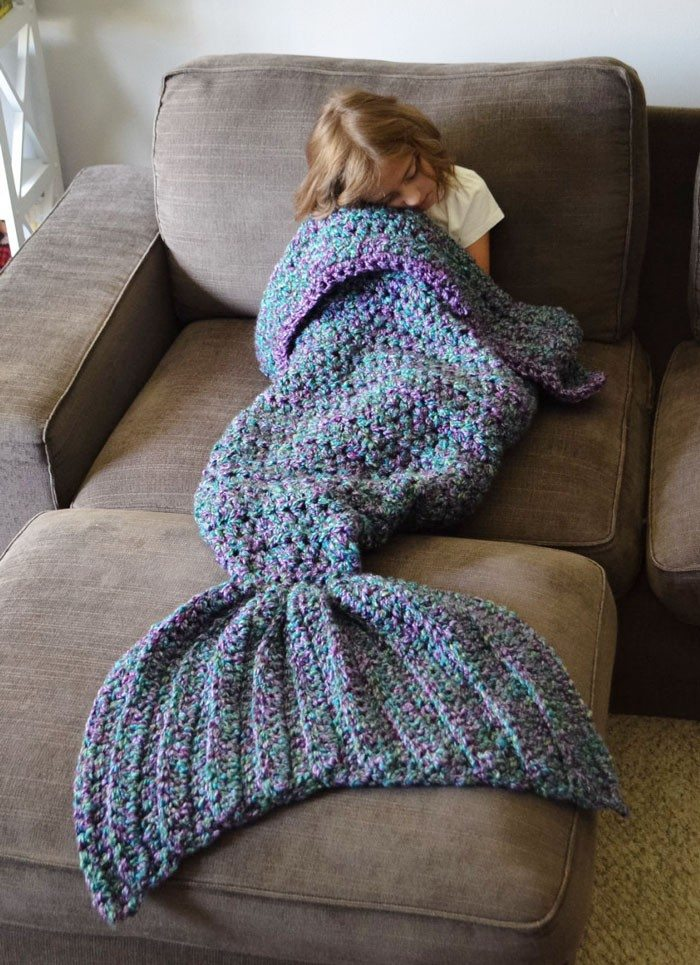 Crocheted Mermaid Tail Blankets Craft Projects For Every Fan
