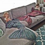 Crocheted Mermaid Tail Blankets
