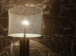DIY Soda Pop Tab Lamp Shade