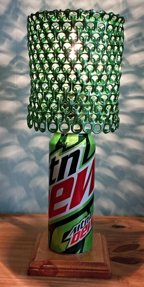 Soda Pop Tab Lamp Shade Craft Projects For Every Fan