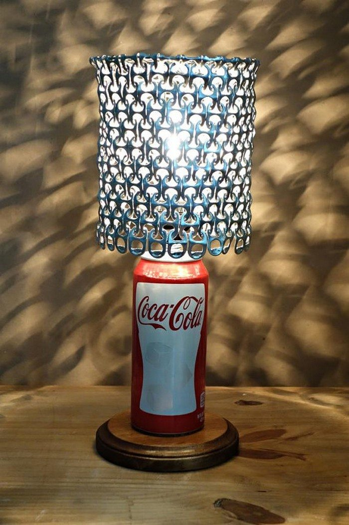 Soda Pop Tab Lamp Shade - Craft projects for every fan!