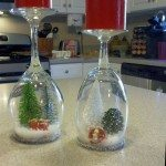 DIY Wine Glass Snow Globes