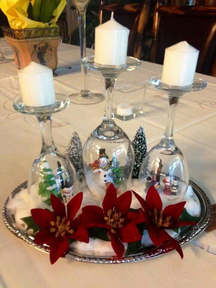 DIY Wine Glass Snow Globes