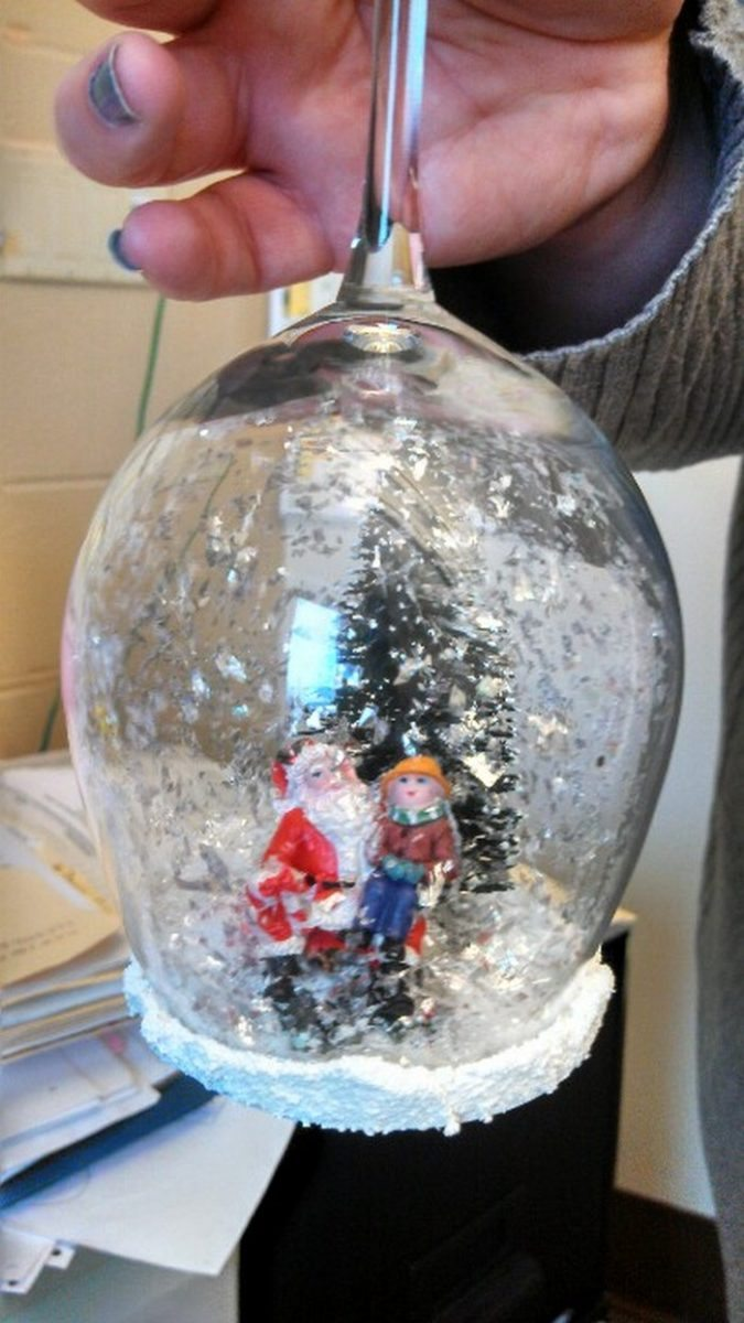 Wine Glass Snow Globes Craft Projects For Every Fan