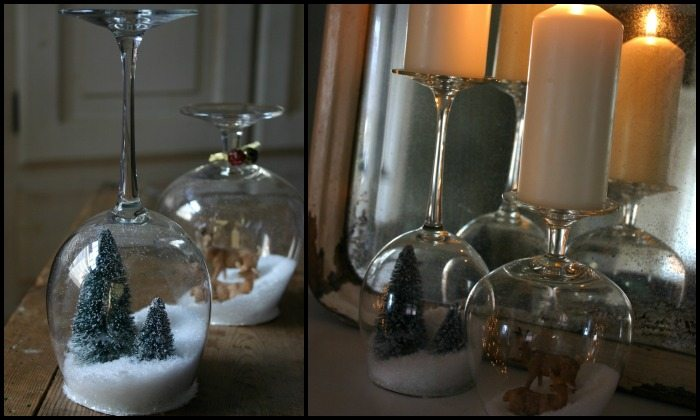 DIY Wine Glass Snow Globes Main Image
