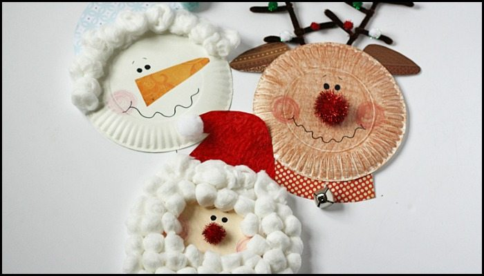 Make Christmas characters from paper plates