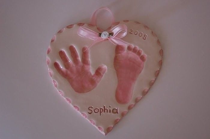 Salt Dough Foot Print Art