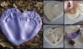 How to make a salt dough foot print heart