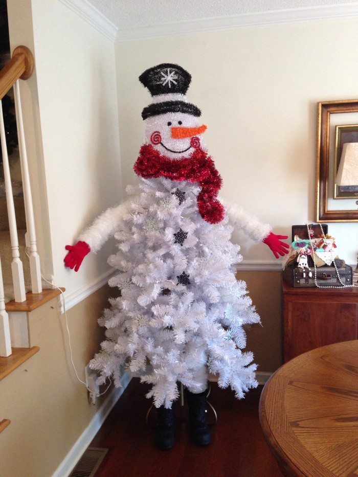 snowman christmas tree it might be easy